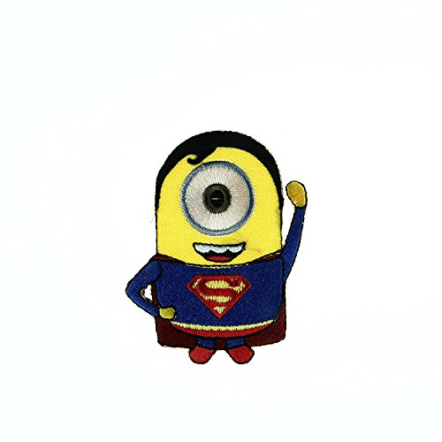 Minion Cartoon Embroidered Applique Iron Sew on Patch in Different Patterns (SuperMan)