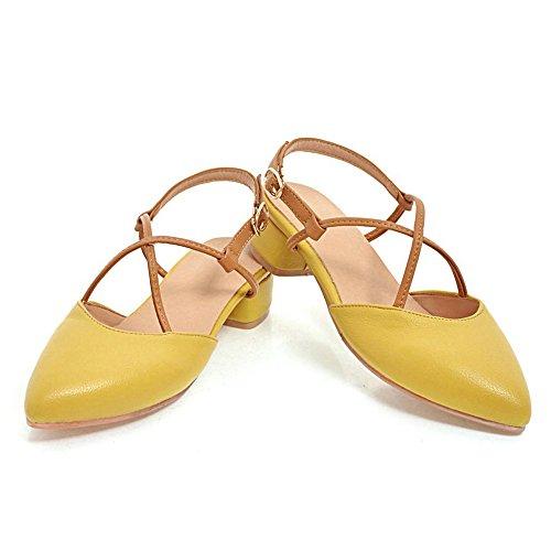 Mode Femmes JOJONUNU Yellow Pointu Sandales W7p1q5wz0