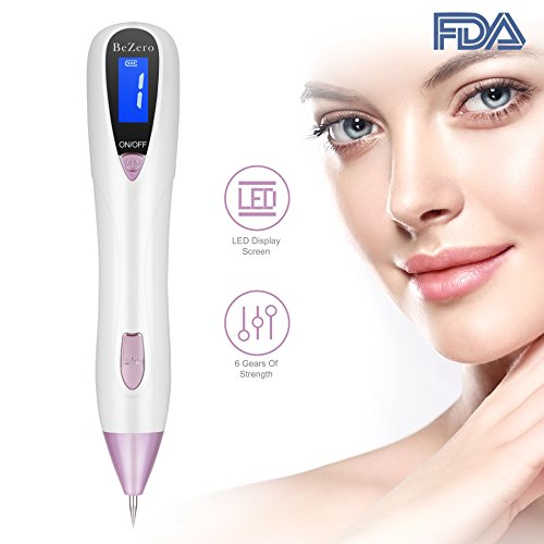 Skin Tag Remover, BeZero Skin Tag Remover Adjustable 6-Levels Home Use, LED Spotlight USB Rechargeable Spot Eraser Pro Pen for Wart Nevus Tatoo Freckles
