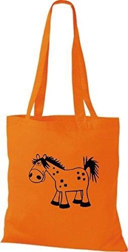Shirtstown Stoffbeutel Tiere Pferd Pony Orange