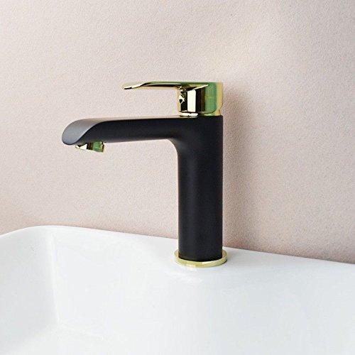 MEIBATH Waschtischarmatur Badezimmer Waschbecken Wasserhahn Küchenarmaturen Warmes und Kaltes Wasser mit Einem Hebel Hebel Schwarz Küchen Wasserhahn Badarmatur