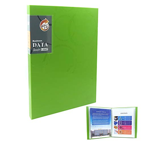 - Protector Clear Book Clear File Folders 40-Pocket Business A4 Sheet Presentation Book Organizer Binder 80-Page Capacity Available for Report Sheets (Green)