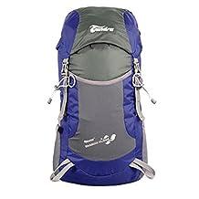 SKL Ultra Léger Imperméable 35L pliable Sac à dos escalade alpinisme randonnée Camping Voyage sac à bandoulière Bleu Bleu