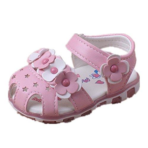 47205da0c Prewalker Zapatos Auxma Las sandalias huecos de las flores de los bebés  Soft-Soled princesa