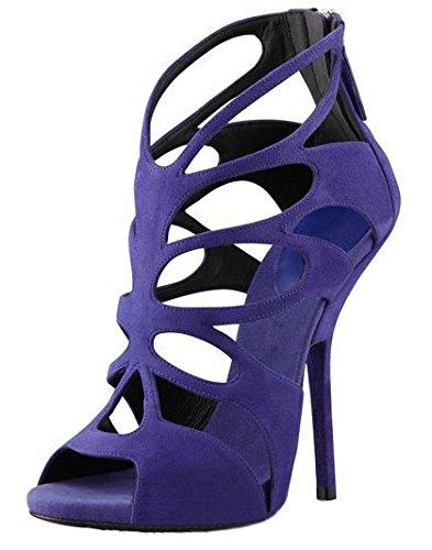 three sandalias tacón de Violeta mujeres impermeabilización Donyyyy de Forty Zapatos mujer alto 38 B78npWHn