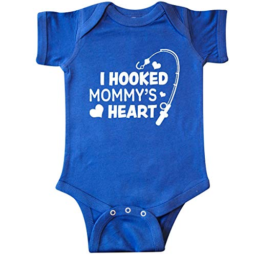 (inktastic - I Hooked Mommy's Heart with Infant Creeper Newborn Royal Blue 362d4 )