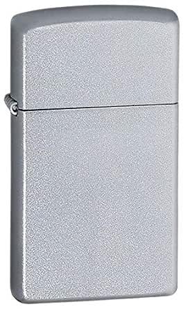Zippo 1605 Slim Satin Chrome Lighter, Silver