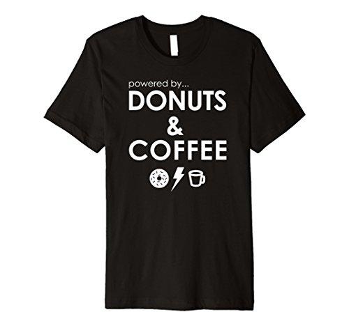 Powered By Donuts And Coffee Funny Food Caffeine (Donuts Coffee Mug)