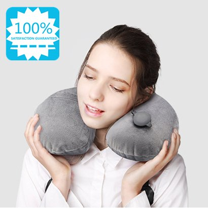 Camping Pillows, Flocking Fabric Inflatable Travel Pillow, Inflatable Lumbar Back Pillow With Fast Inflated Design, Ultralight Air Travel Inflating Pillow For Airplane, Beach, Picnic by VanFn