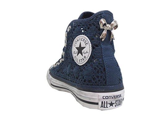 All Crochet Star Borchiate Pizzo Navy Prodotto Artigianale Converse Blu Borchie SxwT6n7