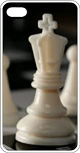 Chess King & Pawn White Rubber Case for Apple iPhone 4 or iPhone 4s
