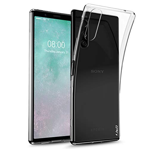 J&D Case Compatible for Sony Xperia 5 Case, [Ultra-Slim] [Lightweight] Ultra-Clear Shock Resistant Protective Rubber Silicone Bumper Case for Sony Xperia 5 Cover - Transparent (Sony Xperia J Case)