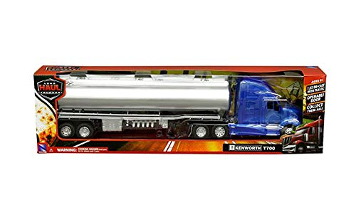 Kenworth Tanker - New DIECAST Toys CAR New RAY 1:32 Long HAUL Trucker - Kenworth T700 Oil Tanker (Blue/Chrome) 12223E