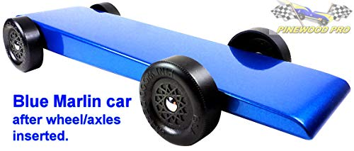 Pinewood Derby BSA Car Kit - pre-Weighted and Painted - The Marlin