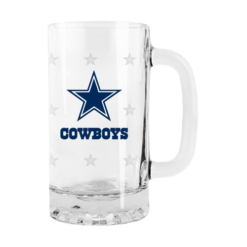 Dallas Cowboys Beer (NFL Dallas Cowboys Satin Etch Tankard Glass, 16-ounce)