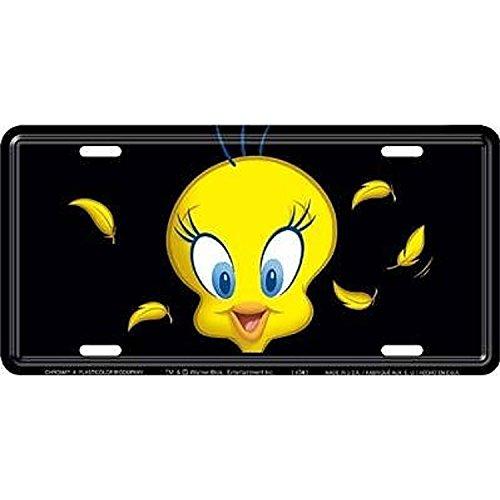 Warner Bros Tweety Bird Metal License Plate Auto Tag CHROMA 1776