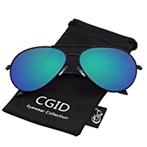 CGID Classic Pilot Sunglasses Polarized for Men and Women UV 400 Mirrored 60MM
