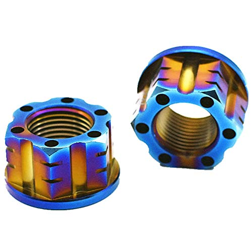 Nuts Ti Axle Nut M16 and M18 Pitch 1.5mm Titanium Flange Nut Motorcycle Rear Axle Hexagon Titanium Screw Nuts Ti Fastener 2 pcs - (Size: M16, Color: Steel Color) ()