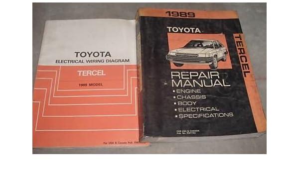 Cool 1989 Toyota Tercel Service Shop Repair Manual Set Oem W Wiring Wiring Database Ittabxeroyuccorg