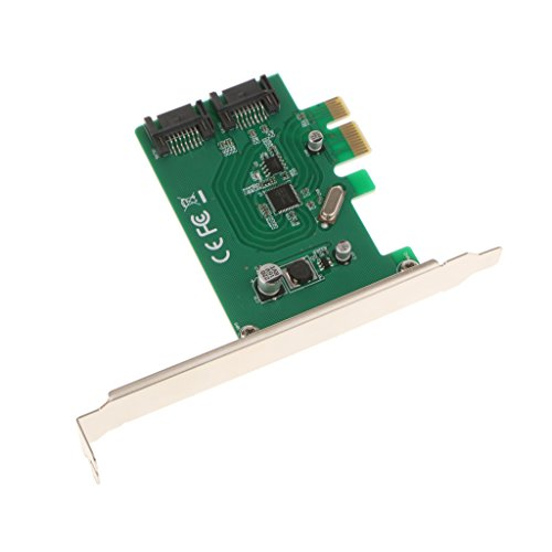 MonkeyJack 2 Ports PCI SATA 3 III 6Gbps Internal Controller Card Adapter Fast Speed by MonkeyJack