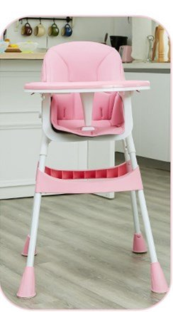 Stool Dana Carrie Baby Chairs Children's Dining Table and Chairs Portable Baby-sit seat Kids eat a Table-Folding, Pink (Dana Dining)