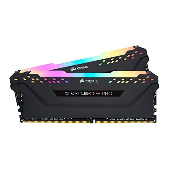 Corsair Vengeance RGB PRO 16GB (2x8GB) DDR4 2666MHz C16 LED Desktop Memory, Black 41q6X49TQiL. SS555