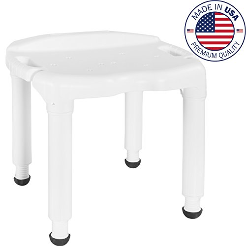Vaunn Medical Spa Bathtub Shower Chair Heavy Duty Bath Seat Bench (Tool-Free Assembly)