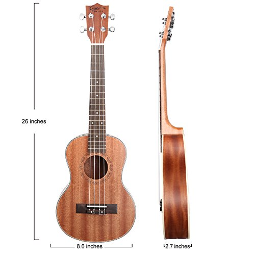 Hricane Tenor Ukulele 26inch Professional Ukelele For Beginners Hawaiian Uke UKS-3 Bundle with Gig Bag - Image 4