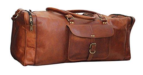 Handmade Genuine Leather Overnight Duffel