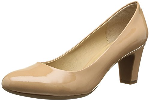 Geox Women's D Marie Claire Mid Dress Pump Natural NEdQXqMd