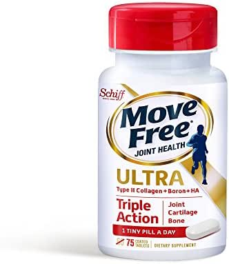 Move Free Type II Collagen, Boron & HA Ultra Triple Action Tablets, Move Free (75 Count In A Bottle) 1 ea ( Pack of 2)