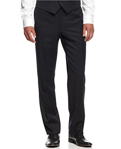 Tommy Hilfiger Navy Solid Flat Front Worsted Wool New Men's Dress Pants (30W x 32L) - New Wool Pants