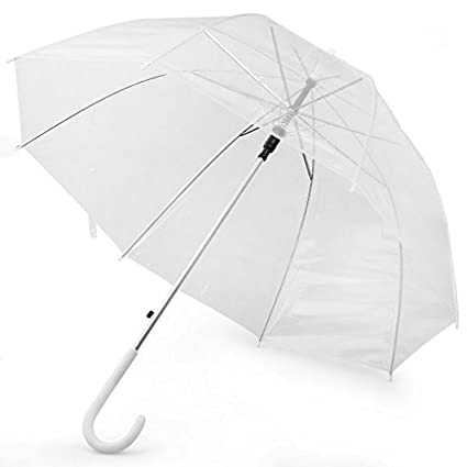 65157b996 Image Unavailable. Image not available for. Color: Arrival Transparent  Clear Rain Umbrella Parasol PVC Dome for Wedding ...