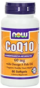 Now Foods Coq10 60mg with Omega-3, Soft-gels, 120-Count