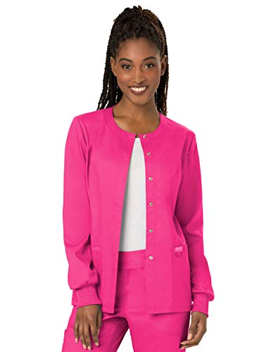 Cherokee WW Revolution WW310 Snap Front Warm-Up Jacket Electric Pink M