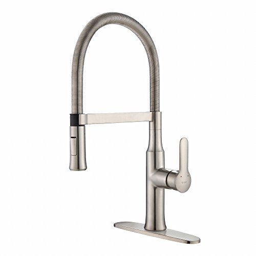 Kraus Modern Nola Single Lever Flex Commercial Style Kitchen Faucet
