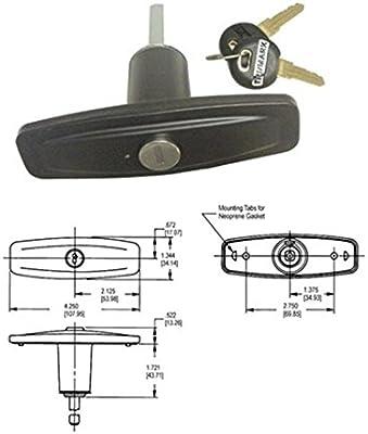 Trimark Clockwise Pop Up Locking T Handle Tm13946 01blkrk Amazon Sg Automotive