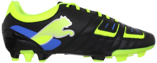 PUMA Powercat 3 Fg - Zapatos de cuero para hombre Schwarz (black-fluo yellow-white-brilliant blue 04)