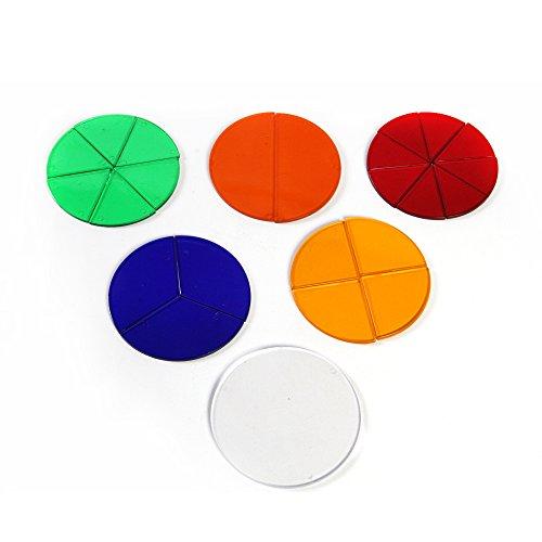 ETA hand2mind Overhead Basic Transparent Fraction Circles, Set of ()