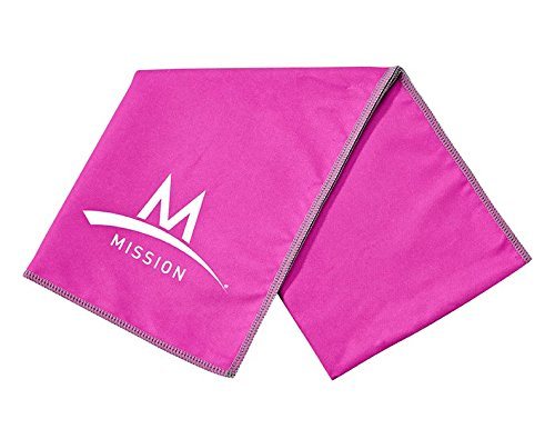 (Mission Enduracool Microfiber Cooling Towel, Pink, Large)
