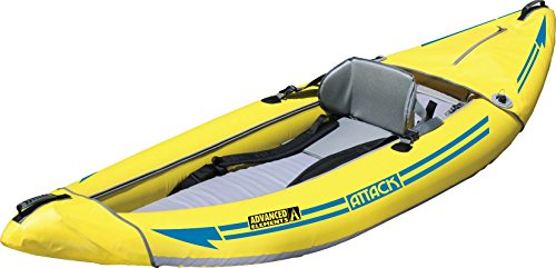 ADVANCED ELEMENTS Attack Whitewater Inflatable Kayak, Yellow