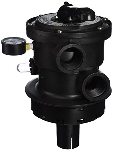 Port Top Valve Multi - Hayward SP0714T VariFlo Top-Mount Control Value, Black