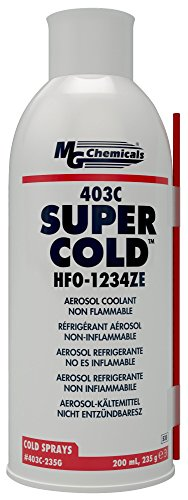 MG Chemicals 403C Super Cold Spray, HFO-1234ZE, 235 Gram Aerosol by MG Chemicals