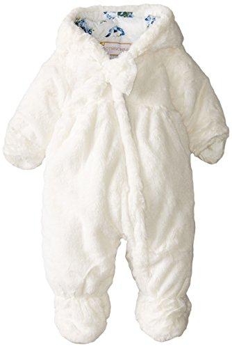 Rothschild Baby-Girls Infant Teddy Plush Pram, Vanilla, 6-9 Months