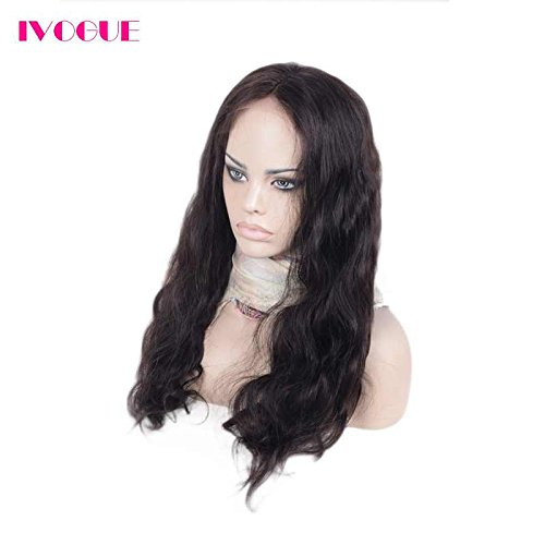 Pre Plucked 13X6inch Deep Part Lace Front Human Hair Wigs With Baby Hair For Black Women Malaysian Soft Virgin Hair (18inch) by iVogue Hair (Image #4)