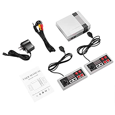 Weardear Retro Classic Mini Game Consoles Retro Built-in 620 Classic Games Dual Gamepad Gaming Player Handheld Games (2 Buttons): Toys & Games