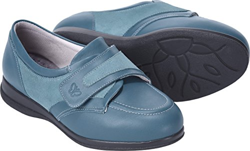 Debbie Fitting Roomy Shoes Teal Leather Cosyfeet 6E Width Extra fgq6x44wU