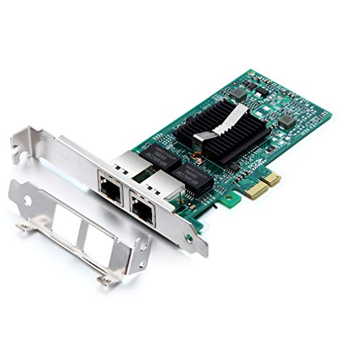 1G Gigabit Ethernet Converged Network Adapter, Compatible Intel 82576 Dual RJ45 Port, PCI Express 2.0 X1, NIC Card for Desktop PC