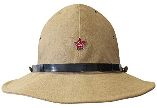Soviet Russian Soldiers Military Boonie hat Panama Afghanka Cap (Red Star Badge, 58 (US-7 1/4)) ()