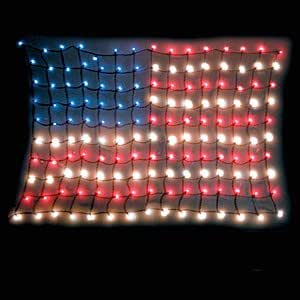 Lighted american flag home improvement for American flag decoration